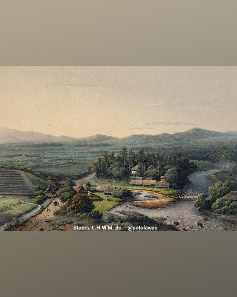 Lukisan Karya L H W M De Stuers Sekitar Tahun 1867 Di Batoe Toelis Buitenzorg Bogor Jawa Barat Pemandangan Jalan Di Daerah G Di 2020 Pemandangan Kota Bogor Kota
