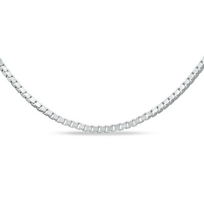 Zales Ladies 0.70mm Box Chain Necklace in 14K White Gold - 20 ghFK4i9FCL