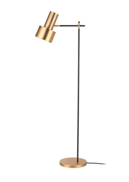 de mid Lámpara pie centuryLámparas dorada metálica 6bIgmYf7vy