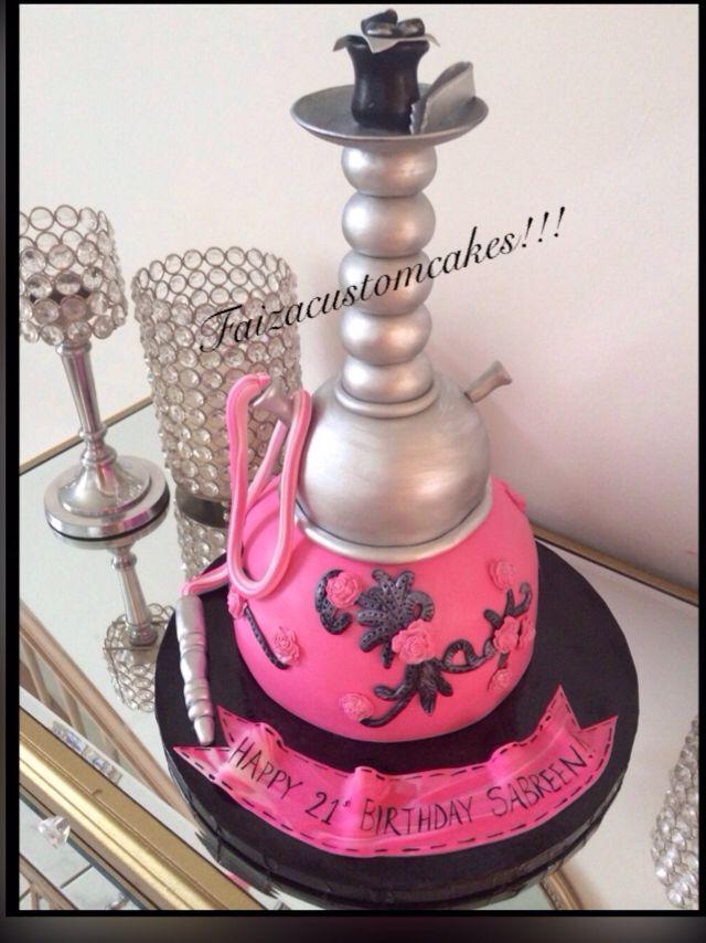 Hot Pink Hookah Cake Kuchen Torten Dessert