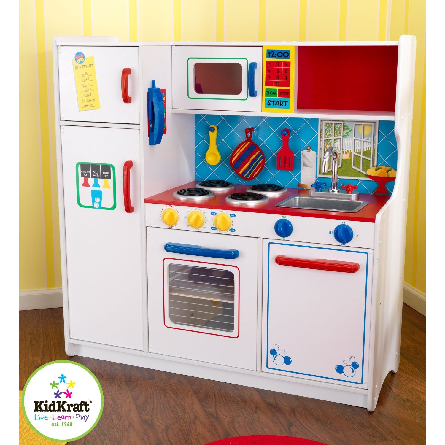 Kidkraft Deluxe Let S Cook Kitchen Toys
