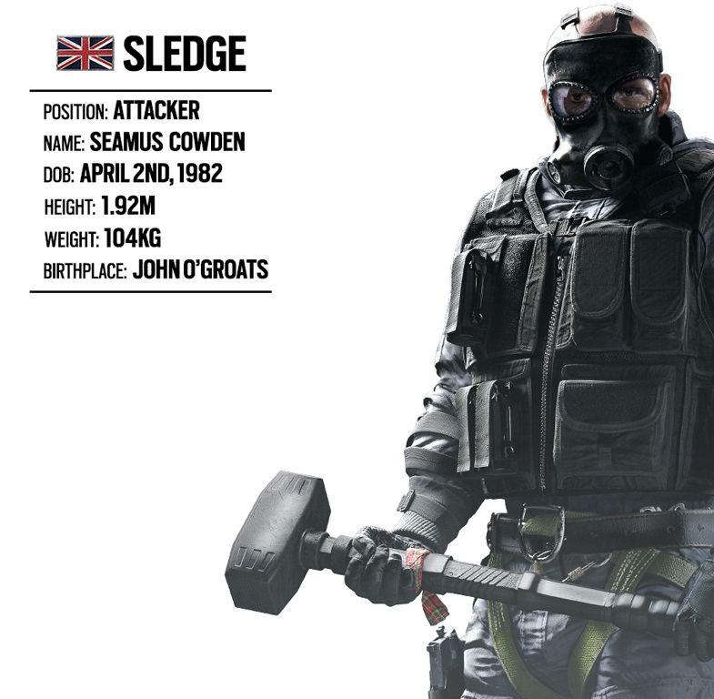 Operator Spotlight 1 Sledge (British Unit) Rainbow Six