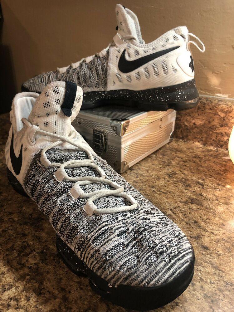 separation shoes 91342 7e940 Nike Zoom KD Kevin Durant 9 Mens 12 White Black Flyknit Oreo ...