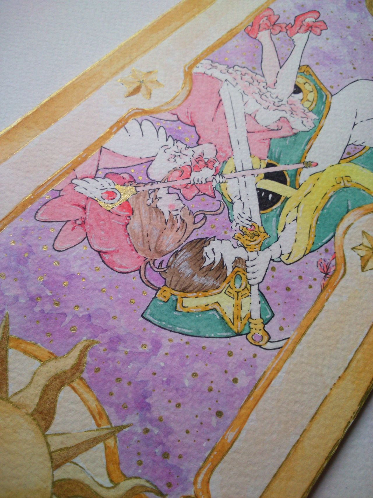 #sakuracardcaptor #anime #watercolor #shaoran #sakura #japanese #ilustracion #illustration #draw