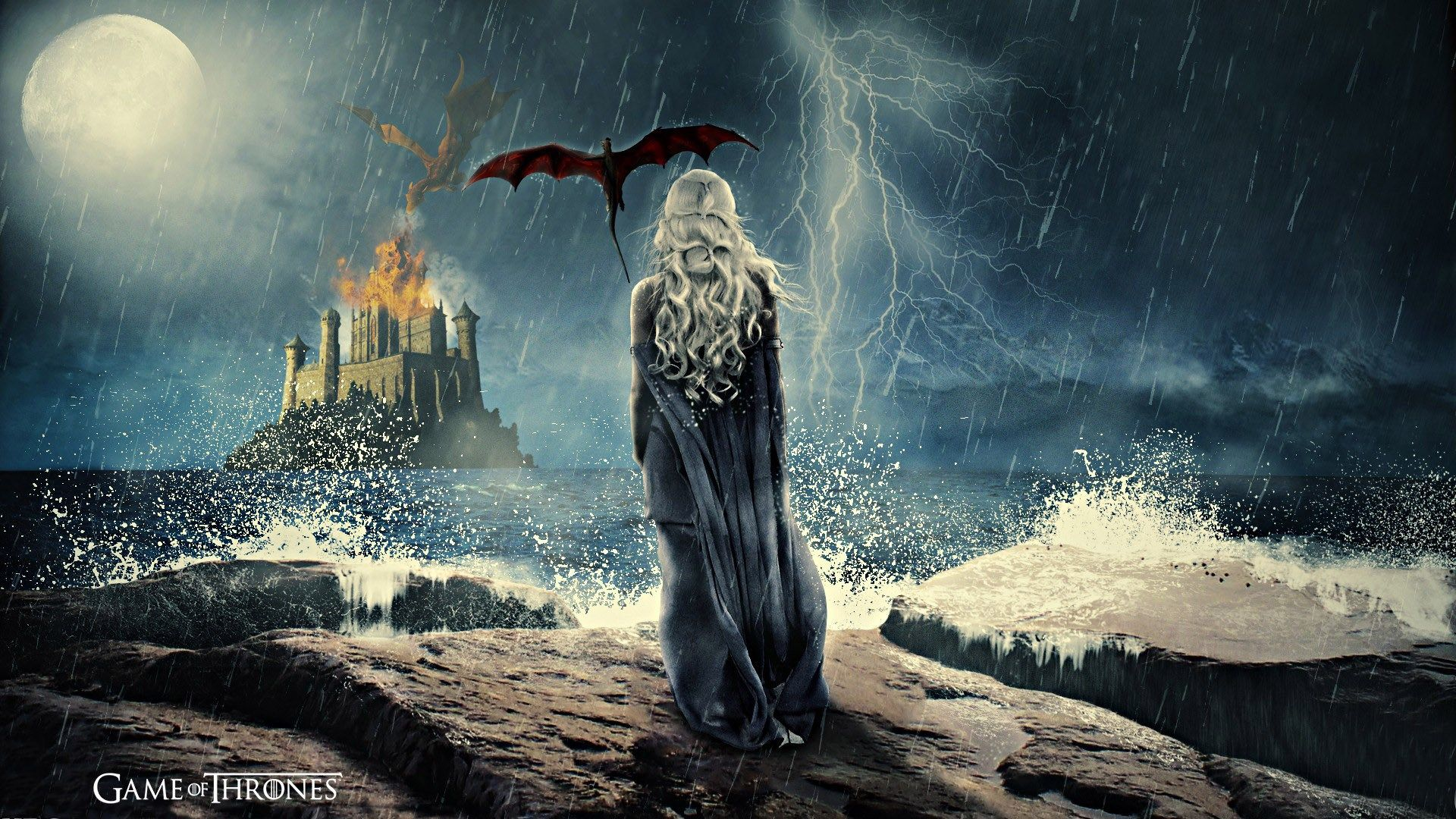 Game Of Thrones Computer Desktop Backgrounds Game Of Thrones Category Game Of Thrones Artwork Daenerys Targaryen Painting Art