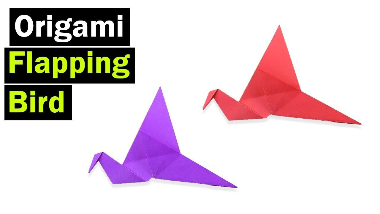 Origami How To Make A Paper Flapping Bird Easy Origami Bird