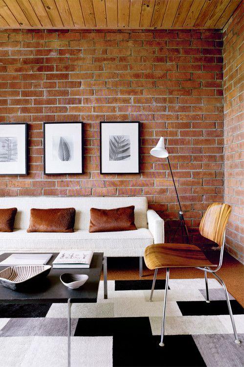 Designtraveller Brick Living Room Brick Wall Living Room House Interior