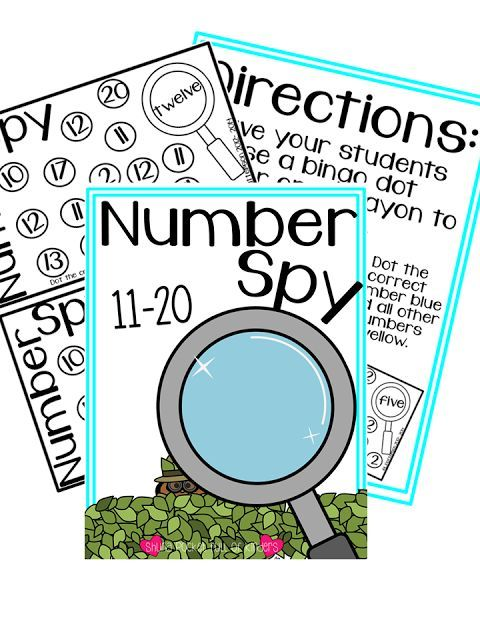 Pocket Full of Kinders!: Freebie to practice number word recognition ...