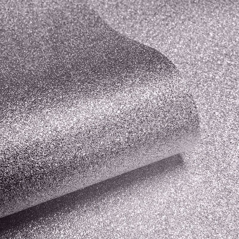Muriva Sparkle Plain Glitter Wallpaper in Mink - 701357