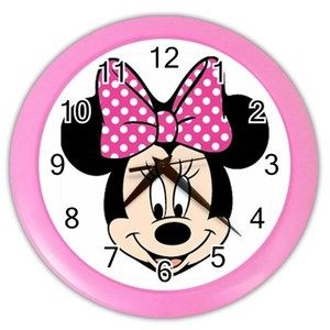 Pin By Theresa Barbera On Sky Minnie Mouse Bedroom Minnie Mouse Bedroom Kids Wall Clock Minnie Mouse