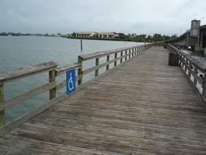 Fishing Pier Near Intercoastal Bridge In Englewood Florida With
