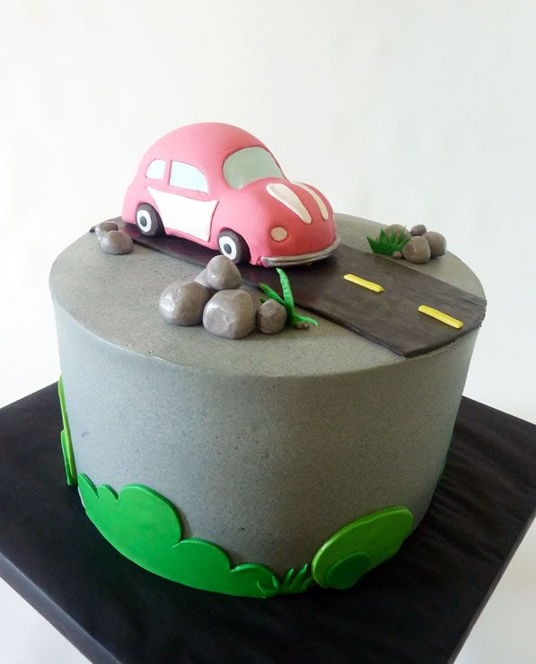 Fun Car Cakes on Craftsy Cake Car cakes and Birthday cakes
