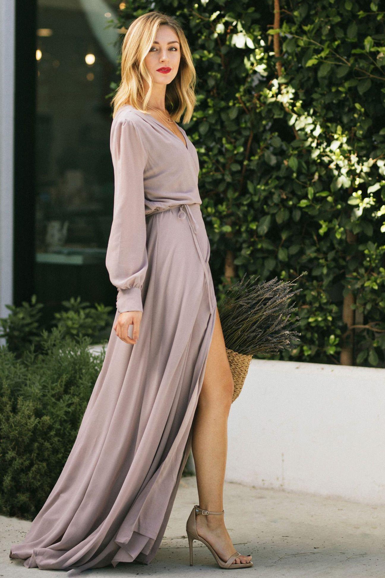 Chloe Long Sleeve Wrap Maxi Dress Long Sleeve Flowy Dresses Maxi Wrap Dress Maxi Dress [ 1944 x 1296 Pixel ]