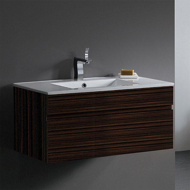 Picasso Modern Single Sink Bathroom Vanity VGK By Vigo - 35 inch bathroom vanity for bathroom decor ideas