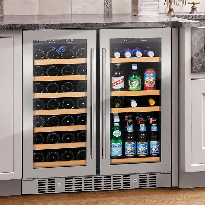 Wine Enthusiast Somm Series 2 Door Dual Zone Wine And Beverage Center Beverage Center Wine Storage Wine Dispenser