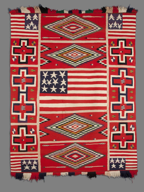 Eyedazzler Blanket Rug Artist Not Known Navajo United