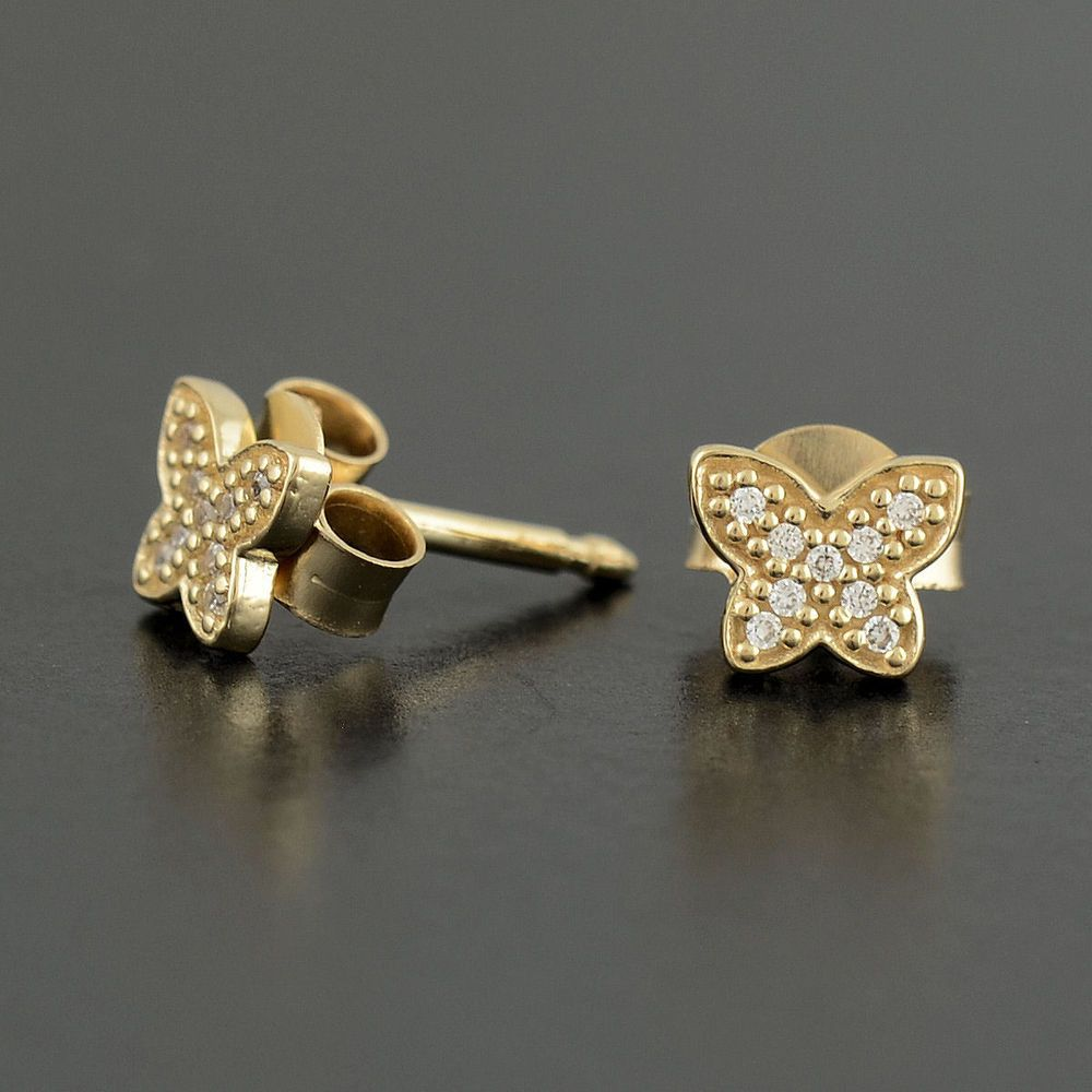 887e8347b Authentic Genuine Pandora 14k Gold Petite Butterfly Earrings ...