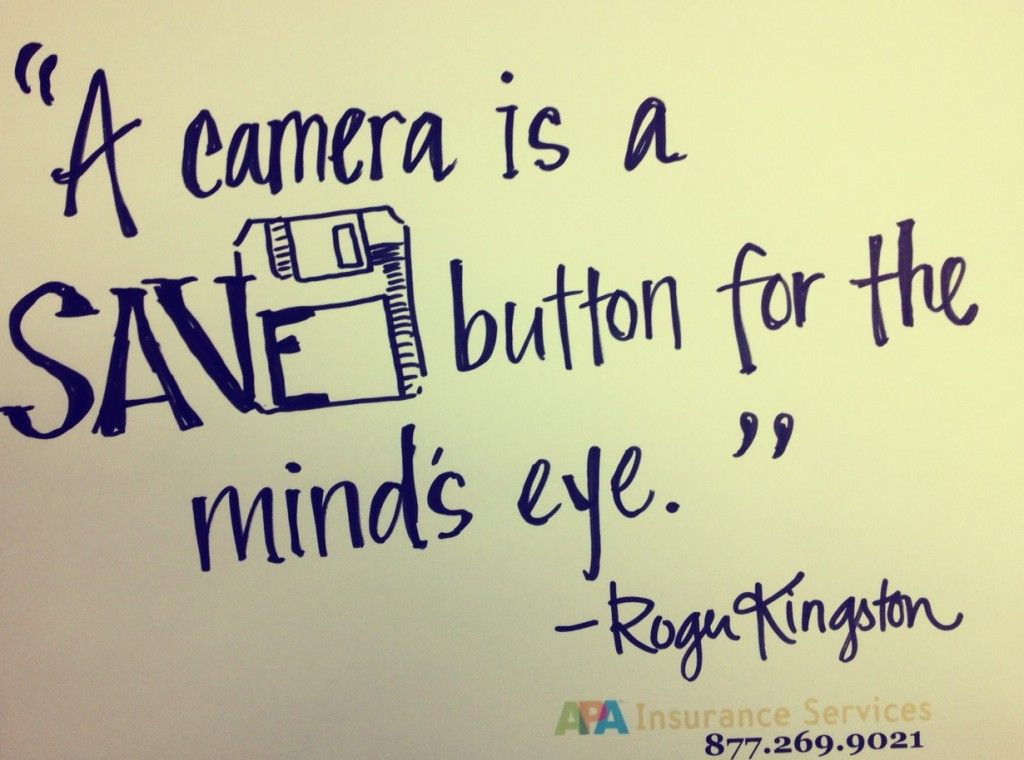 36 Fantabulous Photography Quotes   Pinterest   Photography quote     Photography Quote  A camera is a SAVE button for the mind s eye  Roger  Kingston