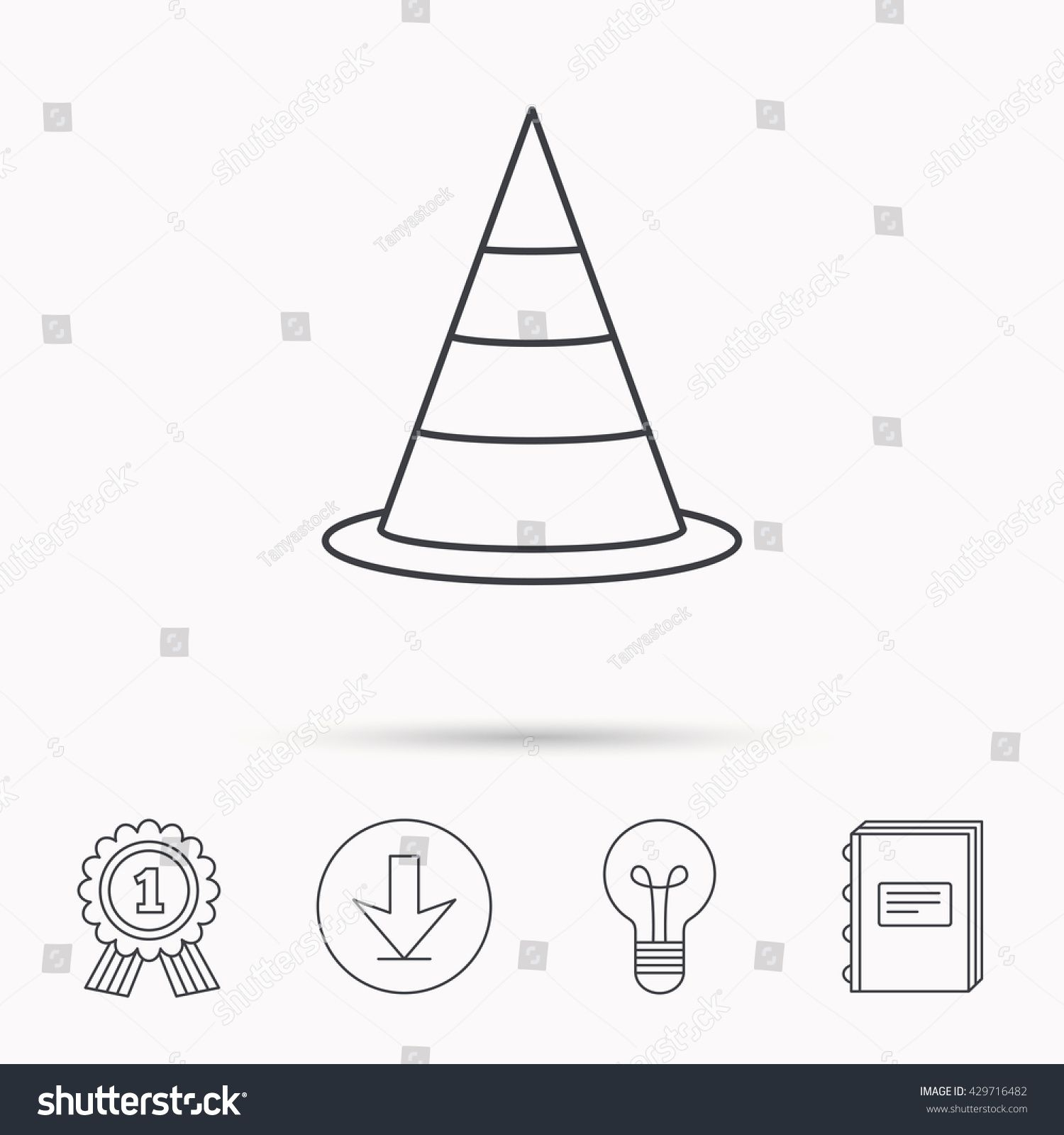 Traffic Cone Icon Road Warning Sign Download Arrow Lamp Learn Book And Award Medal Icons Sponsored Affi Road Warning Signs Creative Icon Warning Signs