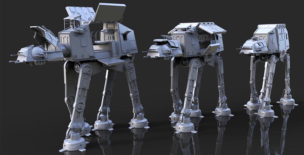 at at walker 3d print model space war online for 3d mode for printing