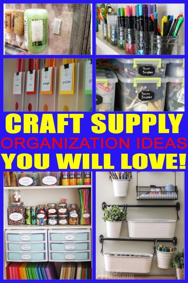 Craft Supply Organization! The Best Craft Supply Storage And Organization  Ideas! Get The Best Ideas, Tips And Tricu2026 | Favorite Places U0026 Crafting  Spaces ...