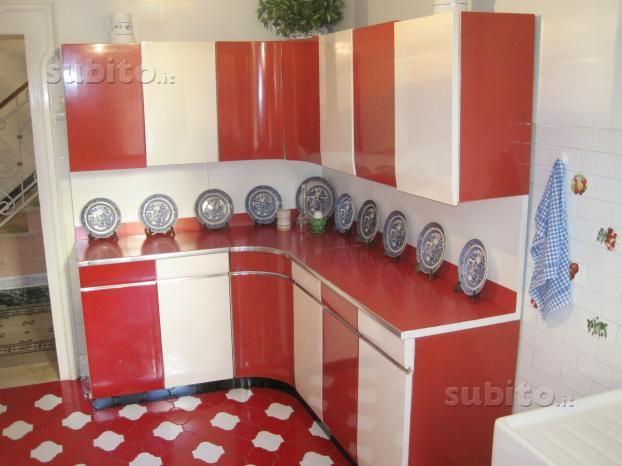 Mobile cucina vintage anni 50 originale - Arredamento e Casalinghi ...