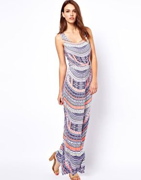 Totem print maxi dress