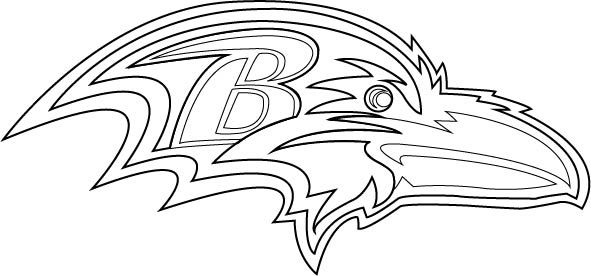 Ravens kids coloring pages ~ Baltimore Ravens Logo Outline Vector. Fully layered vector ...