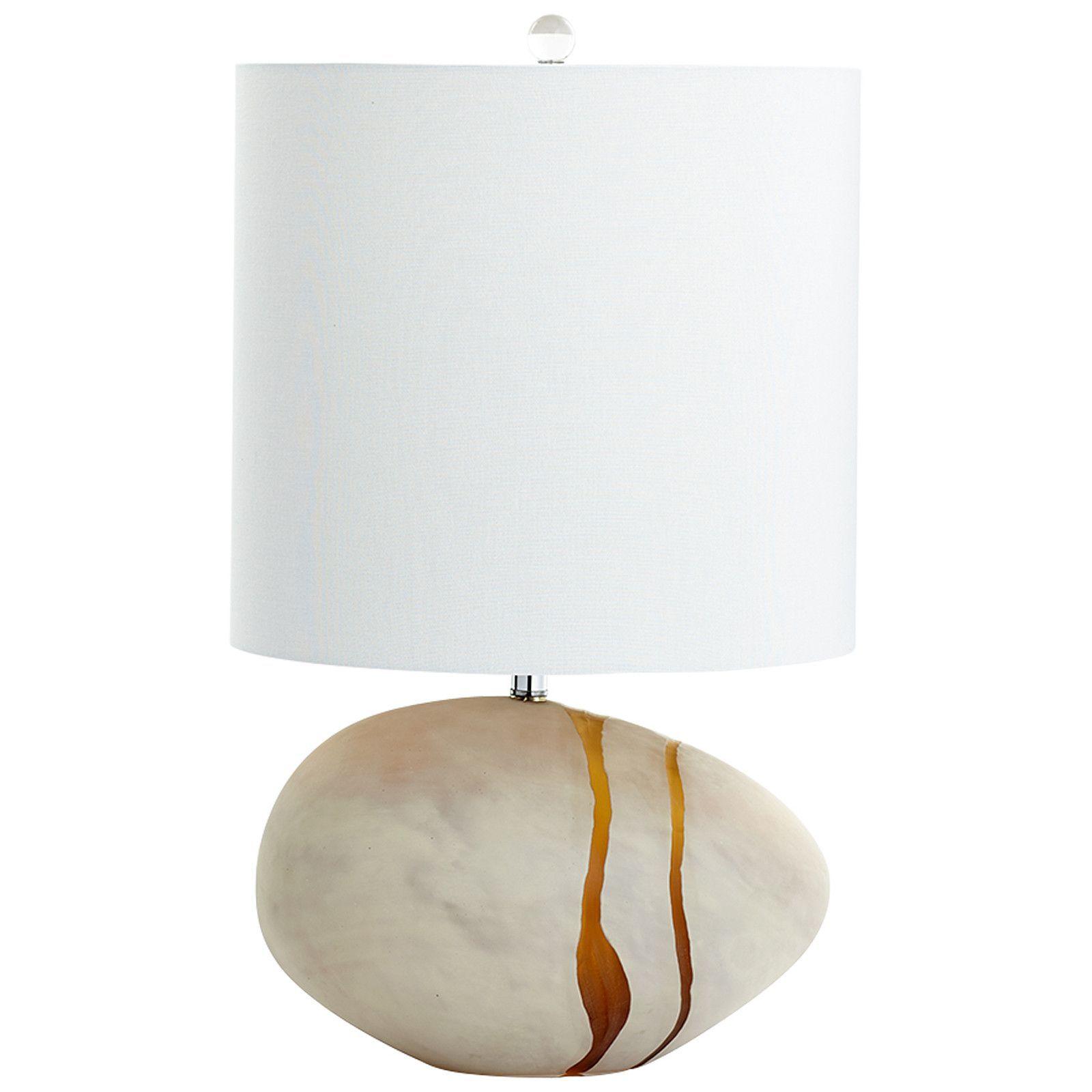 Tiber 2-Light Table Lamp in Amber