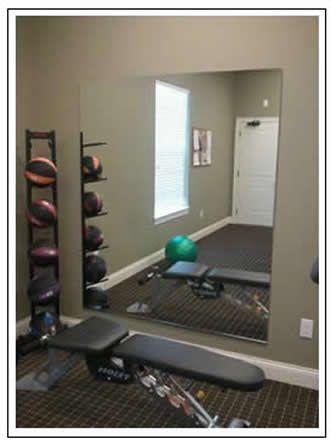 diy home gym mirror weights go  basement home gym