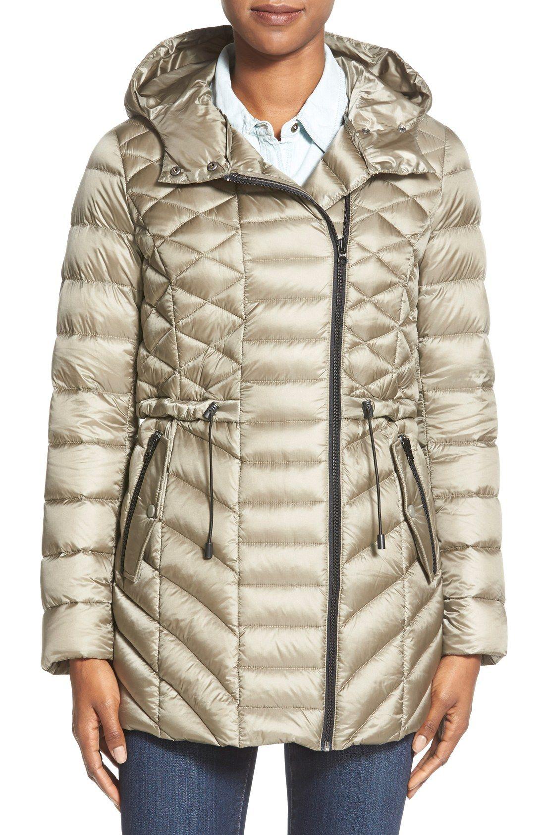 c06eca66f Halogen® Hooded Down Jacket | Clothes | Jackets, Coats for women, Coat