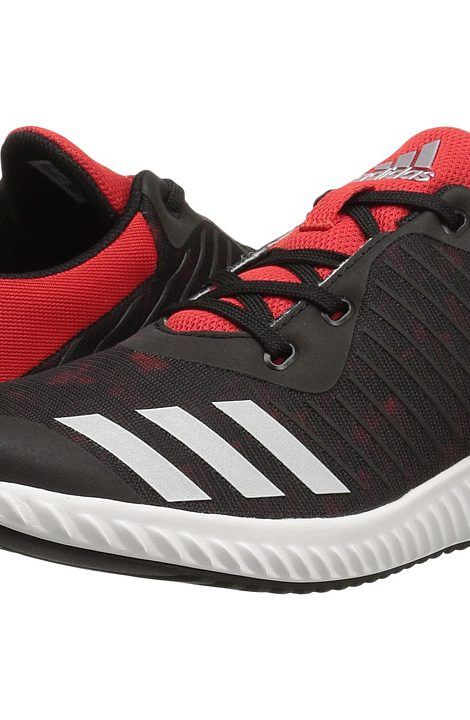 adidas Kids FortaRun Print (Little Kid/Big Kid) (Black/Red/White) Boys Shoes