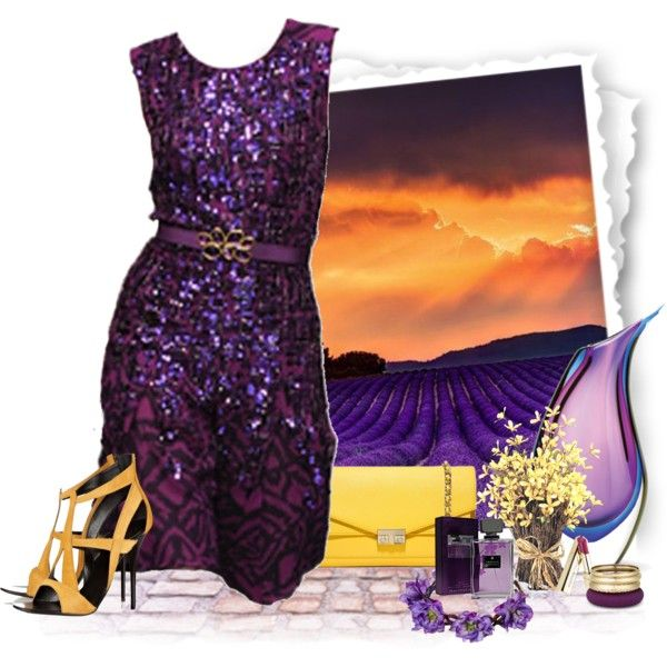 I love the deep purples ...by Polyvore