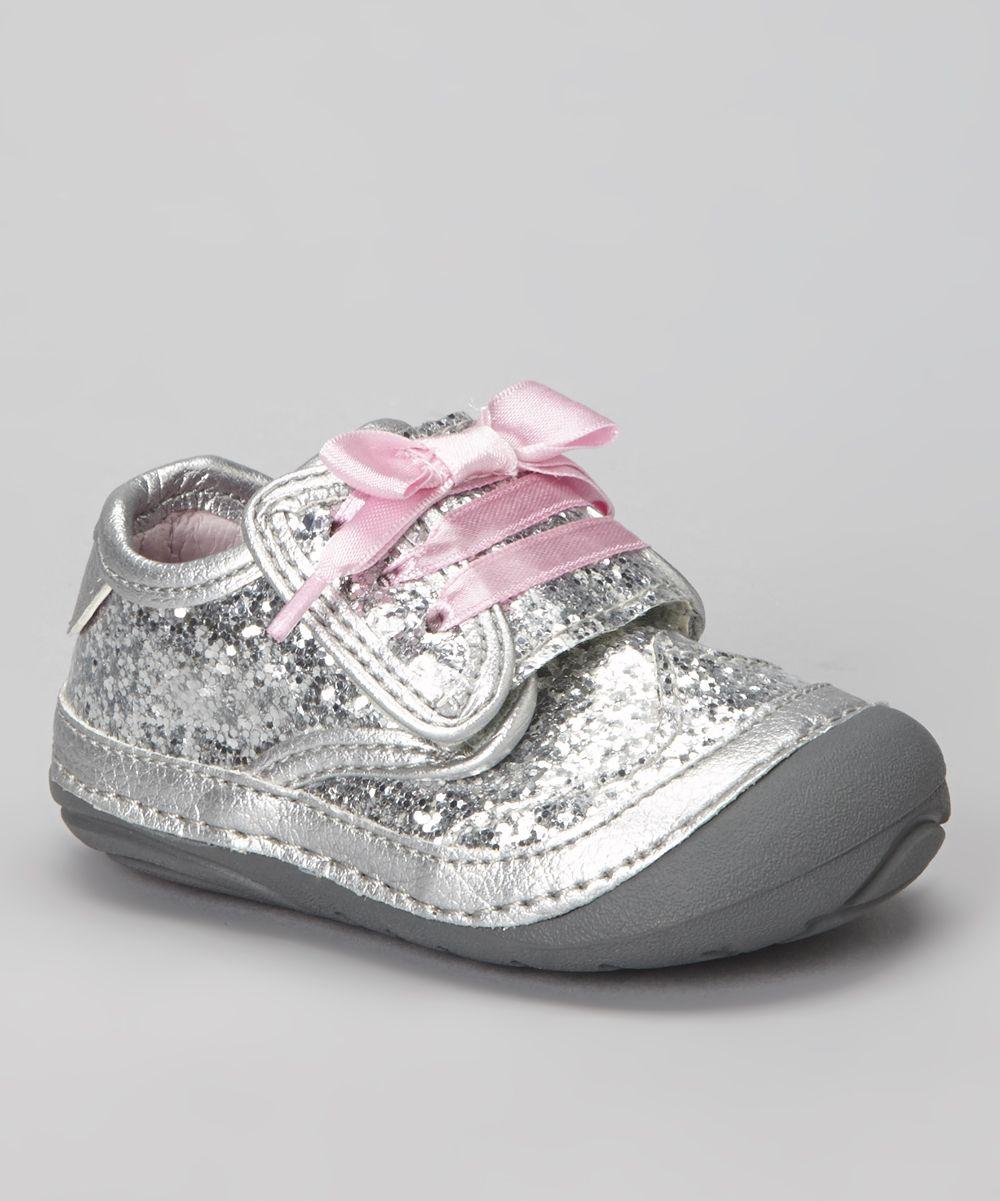 Zapatos plateado Barbie con velcro infantiles 77KNA5Ugk