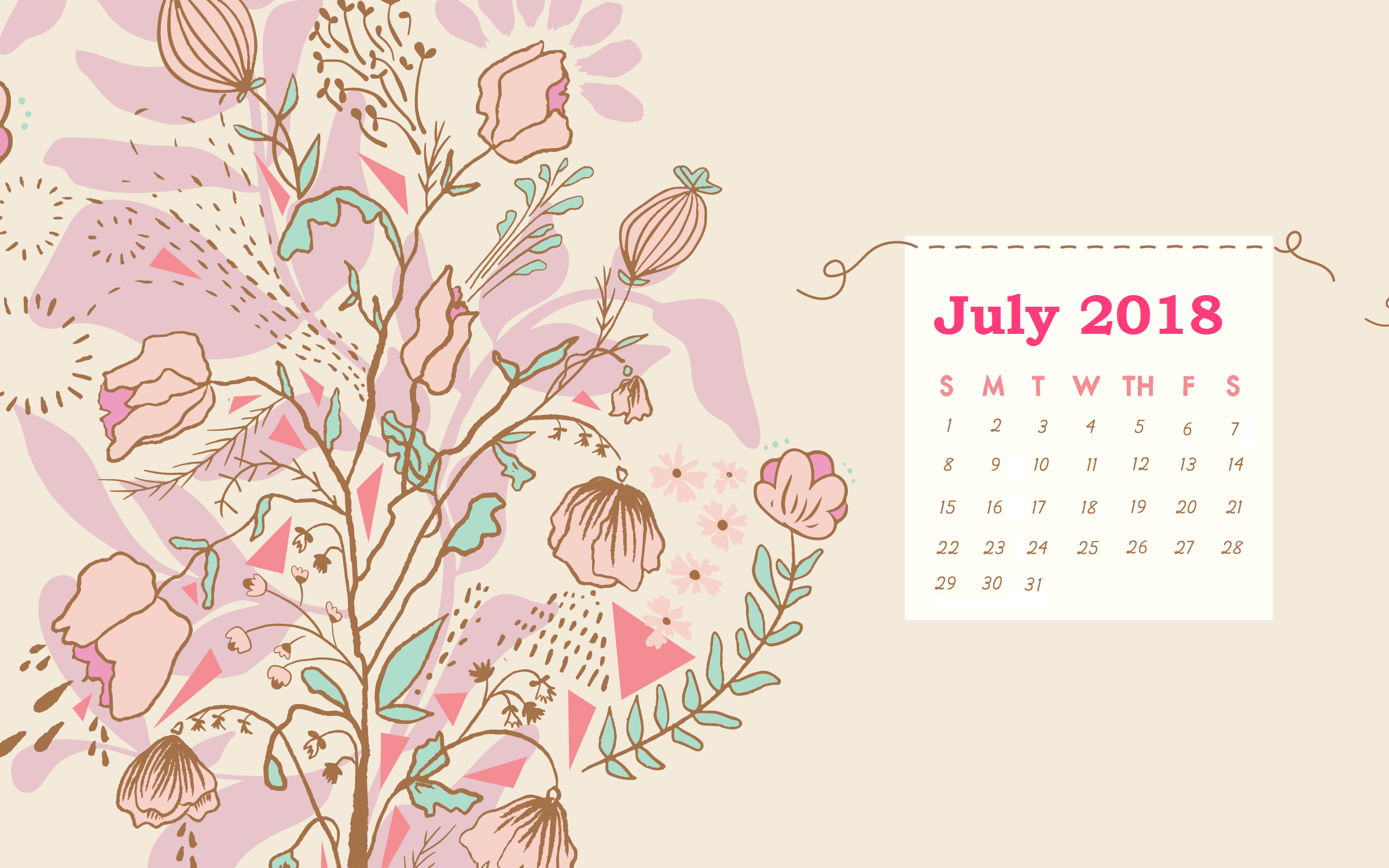 Calendar Wallpaper July : July desktop background calendar maxcalendars