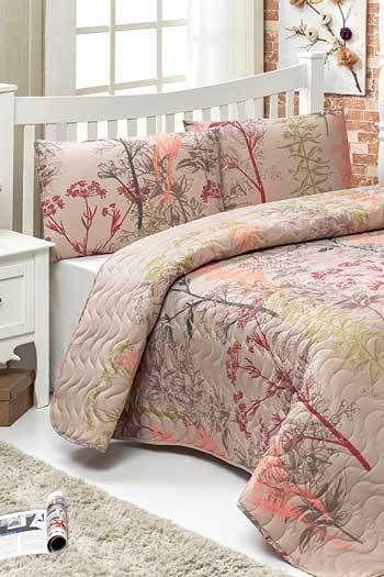 Flamingók Rózsasín kétszemélyes steppelt ágytakaró szett  508537eb91