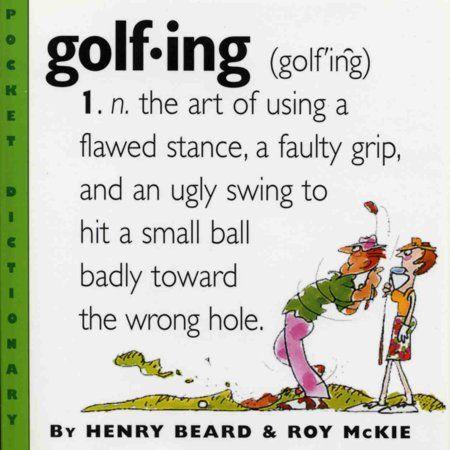Golfing - Paperback #golfhumor