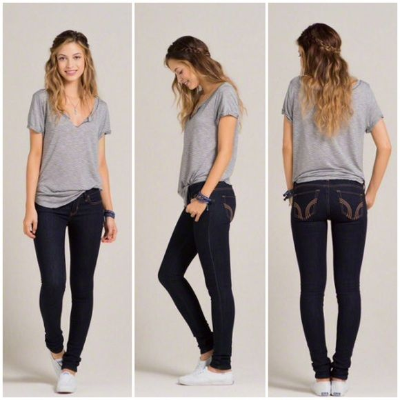 Hollister ryan super skinny ankle jeans