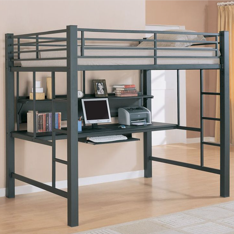 These Adult Appropriate Loft Beds Will Take Your Room To New Heights Loft Bunk Beds Modern Bunk Beds Loft Bed Desk