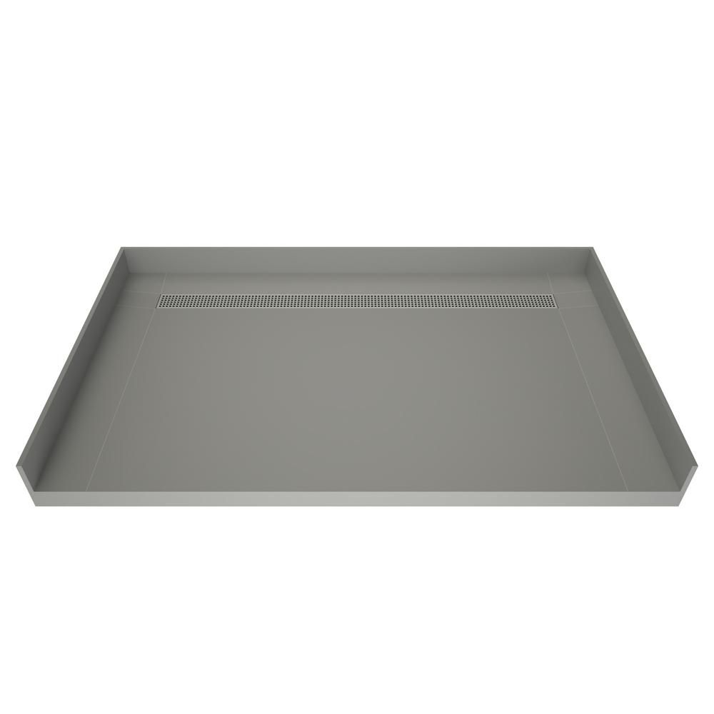 Tile Redi Barrier Free Shower Pan.Tile Redi 36 In X 63 In Barrier Free Shower Base With Back