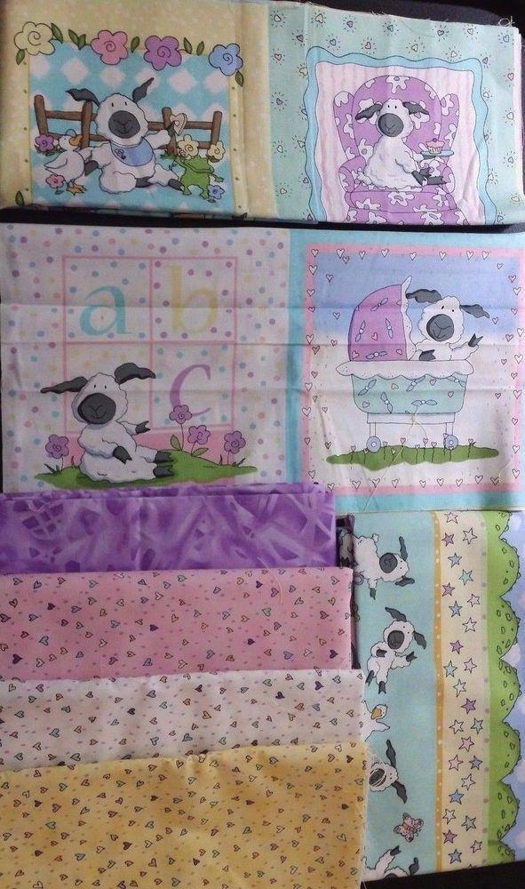 0e6c08879 Baby Quilt Kit Newton Lullaby Lamb Fabric Blocks Border Panel Quilting  Sewing  Clothworks