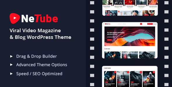 Netube Viral Video Blog Magazine Wordpress Theme Stylelib Magazine Theme Wordpress Blog Themes Wordpress Wordpress Theme