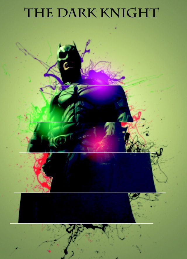 The dark knight. Photo manipulation.