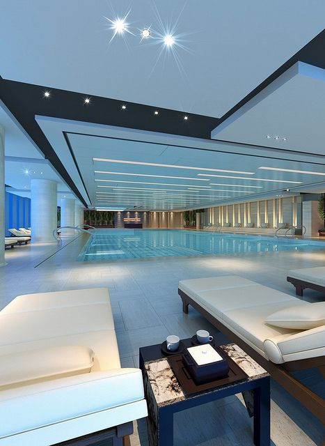 Pin By Katie Finley On Spa Luxury Homes Dream Houses Indoor Swimming Pool Design Luxury Swimming Pools