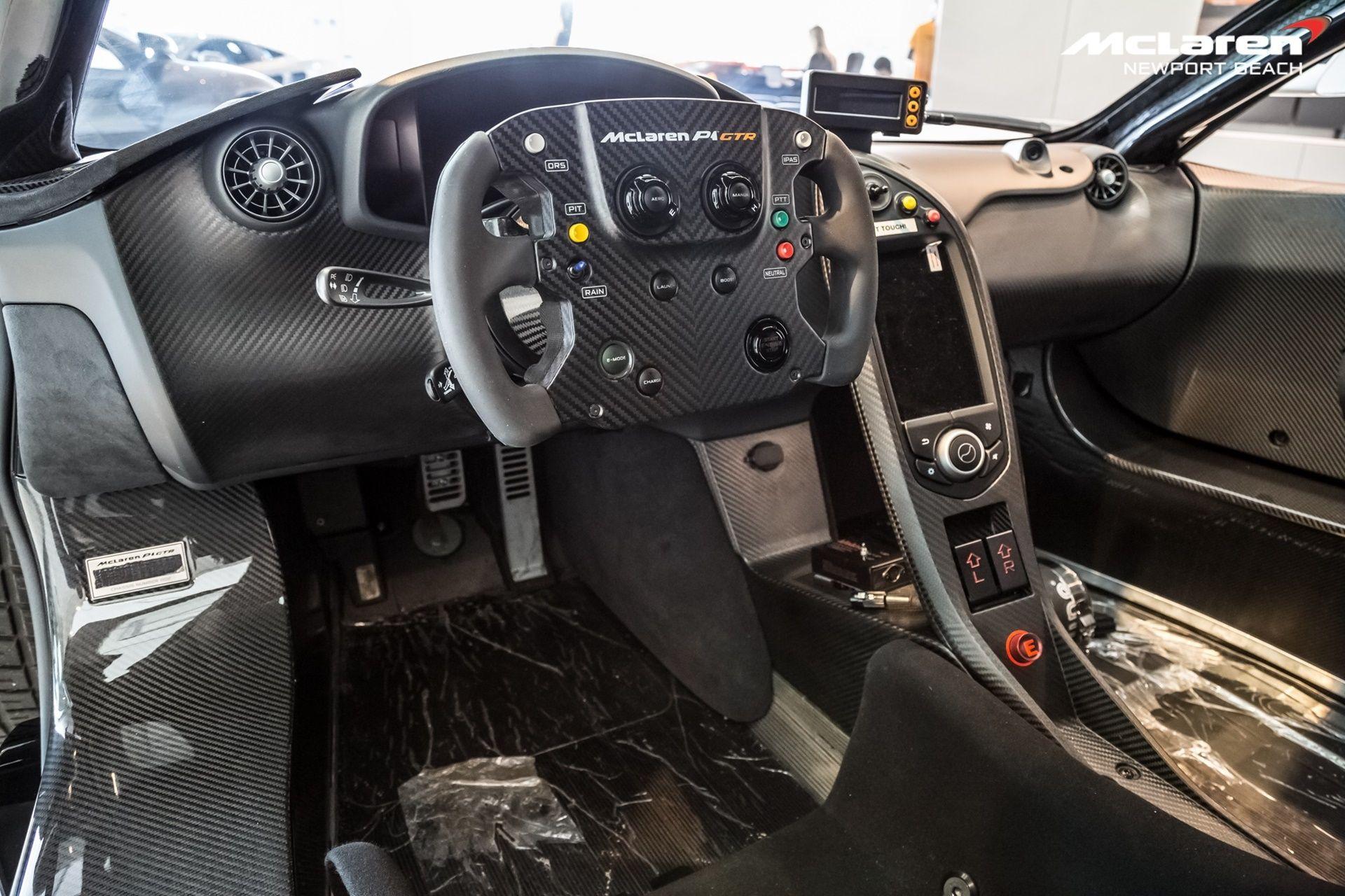 25 White Blue Mclaren P1 Gtr Interior Steering Wheel Sssupersports