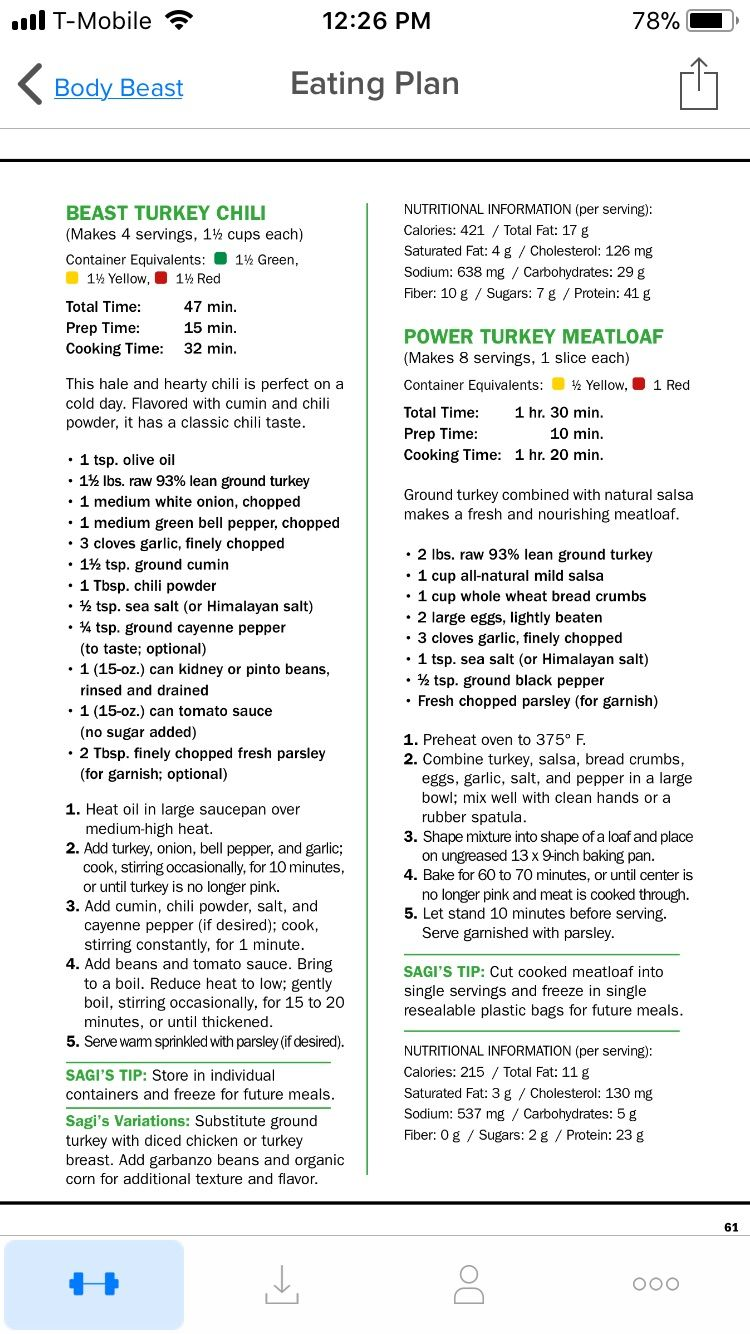 Turkey Meatloaf Beachbody Body Beast Body Beast Turkey
