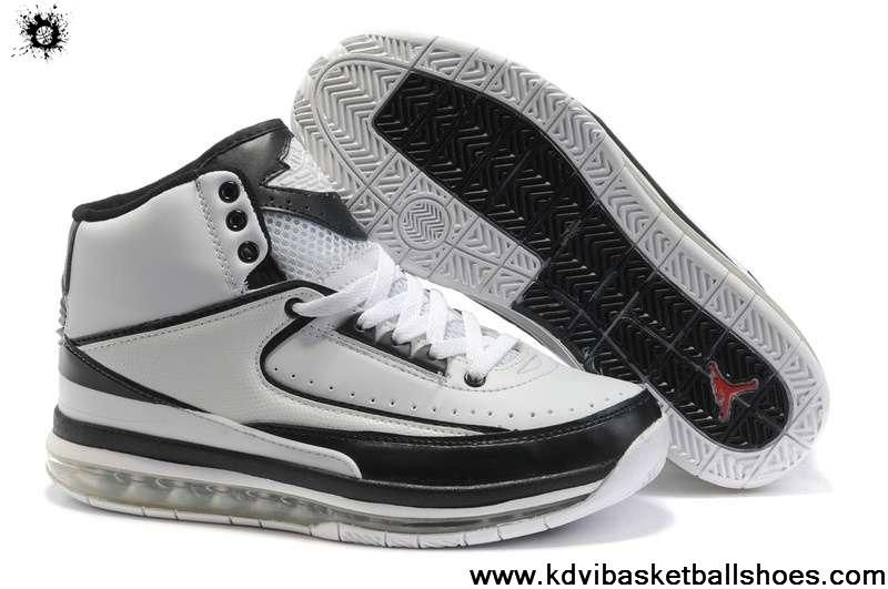 Buy Latest Listing Original Air Cushion White Black Nike New Jordans 2(II) Retro