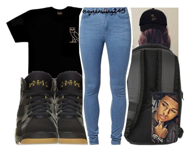 """Feel Like x Diggy Simmons"" by queenswag245 ❤ liked on Polyvore featuring NIKE, Simmons, October's Very Own, Retrò and Noisy May"