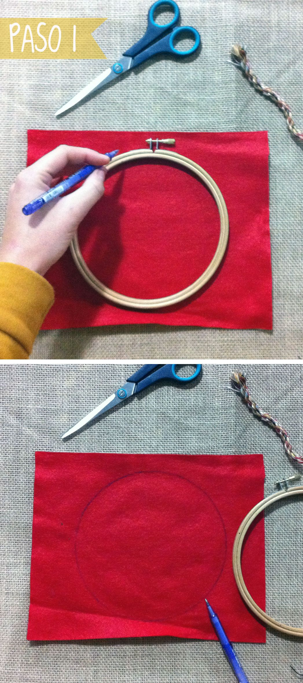 DIY-step by step, how to make a table mat easily http://idoproyect.com/blog/salvamantel-diy/