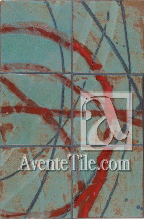 "David Shipley Conversation 2 | 12"" x 18"" Mural Hand-Painted Ceramic Tile | Avente Tile"